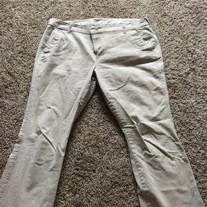 Women's old navy boot cut khakis size 14